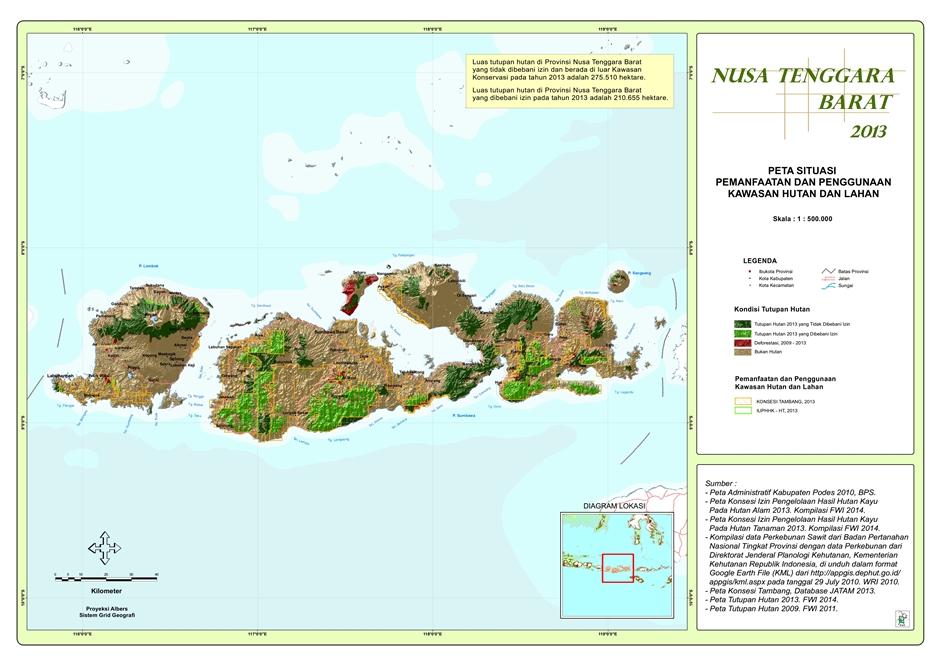Peta Situasi Pemanfaatan dan Penggunaan Kawasan Hutan dan Lahan