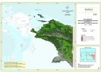 Peta Indikatif Penundaan Pemberian Izin Baru PIPPIB Rev. V dan Kondisi Tutupan Hutan 2013 Propinsi Papua