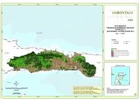Peta Indikatif Penundaan Pemberian Izin Baru PIPPIB Rev. V dan Kondisi Tutupan Hutan 2013 Provinsi  Gorontalo