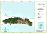 Peta Sebaran Konsesi Tambang 2013 dan Tutupan Hutan 2013 Provinsi  Gorontalo