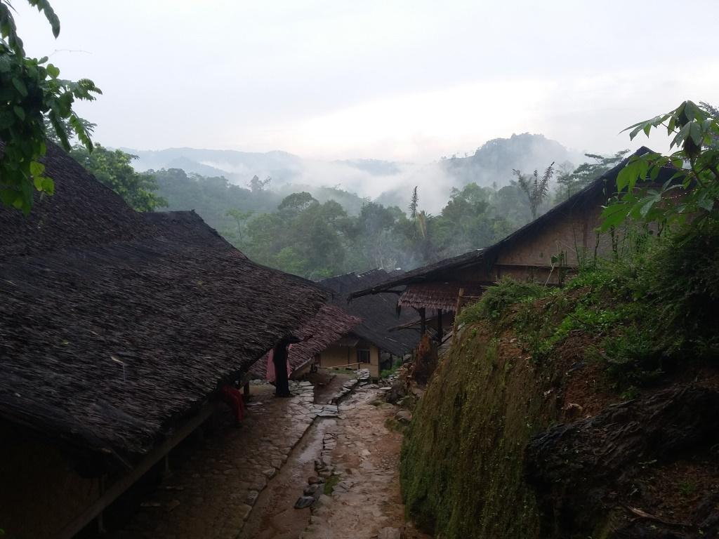 Tata letak rumah Kampung Baduy