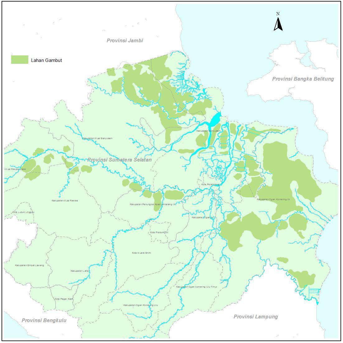 Sebaran Lahan Gambut Provinsi Sumatera Selatan