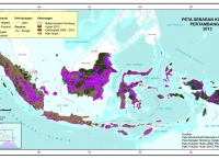 Peta Sebaran Tumpang Tindih Konsesi Tambang dan Hutan 2010-2013
