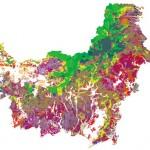 Peta Perubahan tutupan Hutan Kalimantan 1985-2006