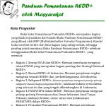 Panduan Pemantauan REDD+ oleh Masyarakat