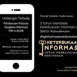 Pembacaan Putusan Sengketa Informasi FWI v. KLHK