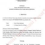 Putusan Sengketa Informasi antara FWI dg Kementerian ATRuang/BPN